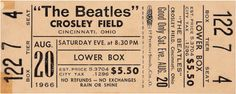 Beatles Concert Crosley Field Cincinnati 1966