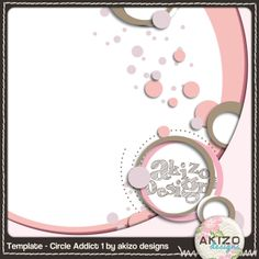 Template -Circle Addict 1  free digital scrapbooking page template
