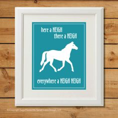 Horse Nursery Art  Digital Art Print  Everywhere by sugarhouseink, $8.00