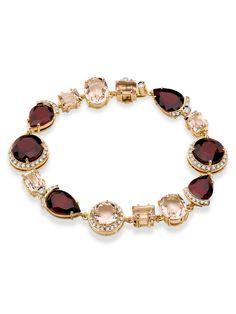 Brumani 18k Yellow Gold, Morganite and Diamond Bracelet at London Jewelers!