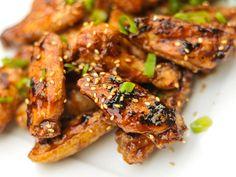Grilled Hoisin Glazed Chicken Wings