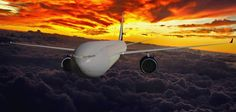 Passenger aircraft rendered in ariel vision