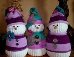 No Sew Sock Snowmen