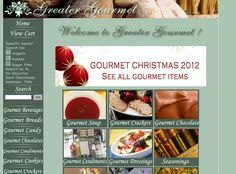 Greater Gourmet. Gourmet Foods   Designed by: WebChick.com