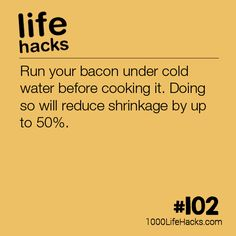Stop Your Bacon From Shrinking