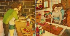 Korean Artist Beautifully Illustrates What Real Love Looks Like