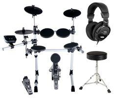 XDrum Set de Batería electrónica DD-402 E (con sillín y auriculares): Amazon.es: Instrumentos musicales Instruments, Desk Setup, Drums, Ceiling Lights, Compact, Toy, Anime, Drum Sets, Headpieces