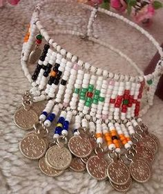 Authentic design Ottoman seed beads necklace.ethnic,spring colors    $45.00 usd