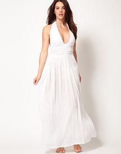 ASOS Cheesecloth Halter Maxi Beach Dress