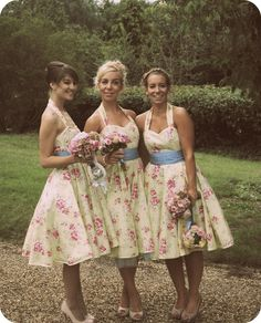 Shabby Chic Wedding Attendant Attire #vintagewedding #bridesmaids #weddinginspiration