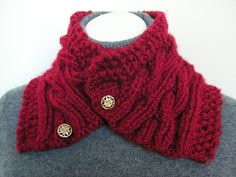 Elegant handmade cable  knit  thick bulky Neck by JoFiberscreation, $28.00