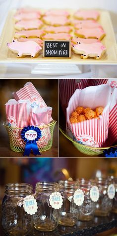 """County fair themed baby shower - """"best in show pig"""" cookies = cutest.thing.ever."""