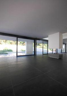 carrelage en grès cérame (aspect béton) concrete graphite GIGACER