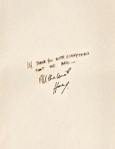 He's got such a beautiful handwriting -M