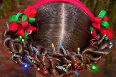 Holiday light up hair and other beautiful ideas!  Princess Piggies