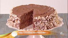 Easy Chocolate Hazelnut Cake Recipe by Daphne Oz - The Chew