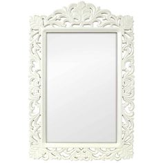 Selections by Chaumont Casa Vintage Filigree White Rectangular Mirror