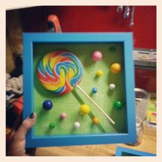 Lollipop shadow box