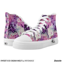 SWEET ICE CREAM MELT High-Top SNEAKERS Designer Shoes, Converse Chuck Taylor, High Tops, Athletic Shoes, High Top Sneakers, Ice Cream, Girly, Pairs, Women's Shoes