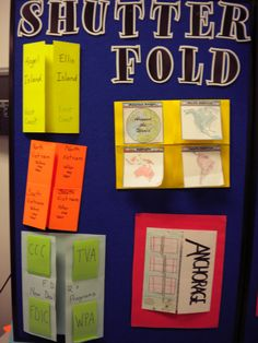 Samples of how to use shutterfold foldables