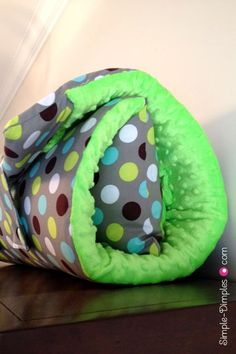 DIY Nap Mat, keep one in the car and you will always have a clean bed for little ones to nap!