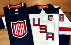 Stop by the #BlackhawksStore on Michigan Avenue to check out the World Cup of Hockey USA Jerseys ($230 each)!