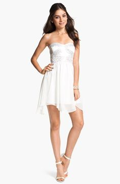 Hailey Logan Embellished Fit & Flare Dress (Juniors) (Online Exclusive) available at #Nordstrom