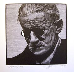 """Your battles inspired me - not the obvious material battles but those that were fought and won behind your forehead."" ~ James Joyce // Wood Engraved by Barry Moser"