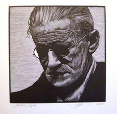 Barry Moser | James Joyce ~wood engraving