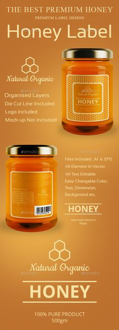 Organic Honey Labels Template Http://Www.Dlayouts.Com/Template/949