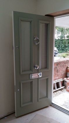 Classic Chrome and grey  finish inspired our own showroom door