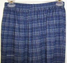 Alfred Dunner Polyester Regular 10 Pants for Women Alfred Dunner, Long Pants, Blue Plaid, Slacks, Casual Pants, Pants For Women, Lounge, Comfy, Pockets
