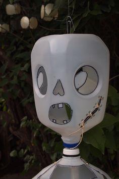 halloween recycled milk jug skeleton decoration. $15.00, via Etsy.