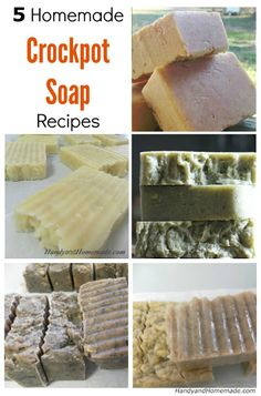 5 DIY Homemade Crockpot Soap Recipes Here is a great collection of crockpot soap recipes that you can make yourself from scratch. You can customize your own soa See more about Soaps, Crockpot and Homemade. Soap Making Recipes, Homemade Soap Recipes, Homemade Gifts, Homemade Beauty Products, Diy Cleaning Products, Bath Products, Just In Case, Just For You, Handmade Soaps