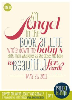 Just ordered this poster to add to my home in remembrance of my two miscarriages. I never want my babies to be forgotten.