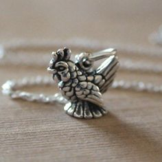 Tiny Chicken Necklace - 925 Sterling Silver Charm Necklace *NEW* Hen Farm Bird #FashionJunkie4Life #Charm