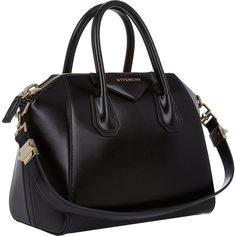 Givenchy Women's Antigona Small Leather Duffel Bag (46.180 ARS) ❤ liked on Polyvore featuring bags, oversized leather bag, oversized duffle bag, handle bag, structured bag and leather duffel bag