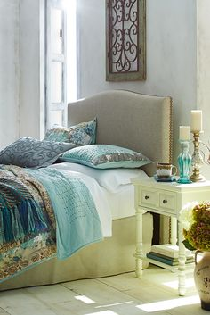 Pier 1's hand-pieced, hand-quilted Marion Bedding delivers a mineral palette and heirloom quality to your room.