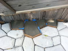Using the really cheap and awesome Concrete Maker form ( http://www.amazon.com/gp/product/B00002N8SO/ref=as_li_ss_tl?ie=UTF8&camp=1789&creative=390957&creativeASIN=B00002N8SO&linkCode=as2&tag=stotraandinv-20 ), I started a HUGE project to make a LARGE patio! The great thing about the Walk Maker form is that you can take your time and just do a few sections at a time and continue them later! COMPLETE! FB Page: https://www.facebook.com/pages/DIY-Home-Improvement-Projects/508872869159755