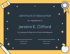 Use this customizable Yellow and Green Chalkboard Kindergarten Diploma Certificate template and find more professional designs from Canva. Certificate Templates, School Design, Chalkboard, Kindergarten, Congratulations, Yellow, Canvas, Green, Tela