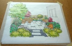 Garden perspective drawing can be a handy tool to visualize a redesign or a therapeutic activity you can use to imagine all the possibilities that space can become. Here are some simple tips on perspective drawing in the garden that anyone can do at home! Landscape Design Plans, Garden Design Plans, Landscaping Supplies, Backyard Landscaping, Landscaping Design, Backyard Ideas, Small Garden Plans, Garden Drawing, Gardening Courses