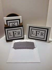 Peanuts and Peppers Papercrafting: Make It Monday - New Stampin' Up! Sophisticated Serifs Monogram Stationary Set