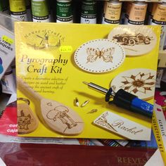Fancy getting someone into a new craft this Christmas? Or making some unique presents of your own? We have this great Pyrography / woodburning set in the Lancaster shop which includes all you need to get going on this art form #pyrography #lancaster #giftideas