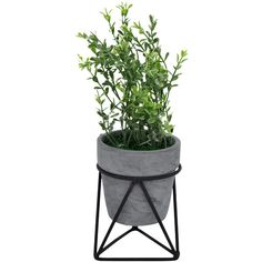 Three Hands Corp Faux Plant With Wire Stand 14 Liked On Polyvore Featuring