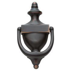 Baldwin 0102 Colonial Style Solid Brass Door Knocker Venetian Bronze Door Accessory Door Knocker Urn