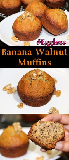 Banana Muffins are perfect for the breakfast or for your kids snacks box. If your bananas are very ripe, don't through it. Make Banana muffins and I am sure you will love these cutie. These are dairy free as well as eggless. Kid Muffins, Breakfast Muffins, Breakfast For Kids, Best Breakfast, Paleo Breakfast, Breakfast Pastries, Breakfast Club, Breakfast Ideas, Mug Cakes