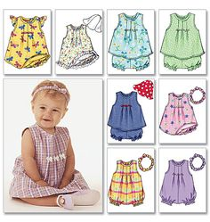 Easter for T B3405 | Infants' Dress, Top, Romper, Panties, Hat & Headband | Infants/Toddlers | Butterick Patterns