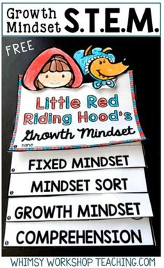 Teach STEM and growth mindset activities at the same time with this stem challenge bundle free Growth Mindset flip book sample (in preview)