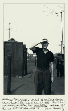 William Burroughs photographed by Allen Ginsberg