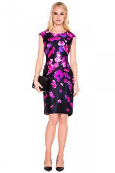 Sukienka w różowe kwiaty - L'ame de Femme